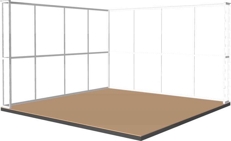 Miostand 4x4x2,5 metri prospettiva in 3D