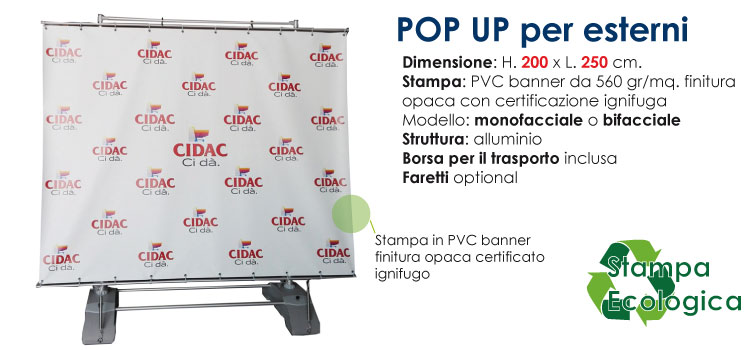 immagine- Pop up per esterni