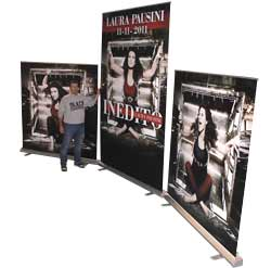 Roll up Maxi usato per Laura Pausini
