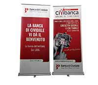 Roll up 200x85 cm - Banca Cividale