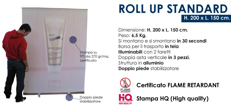 Roll up standard - 200x150 cm