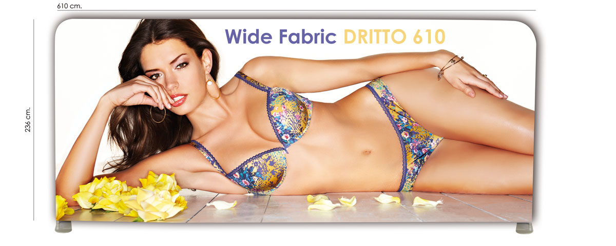 wide fabric banner dritto modello 610