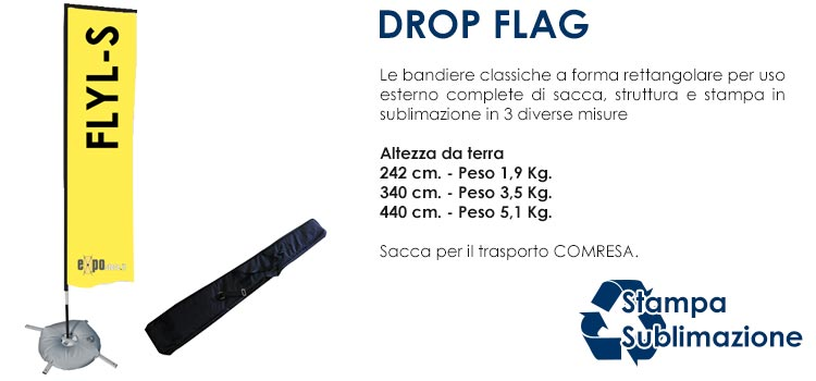 Bandiere personalizzate - DROP FLAG