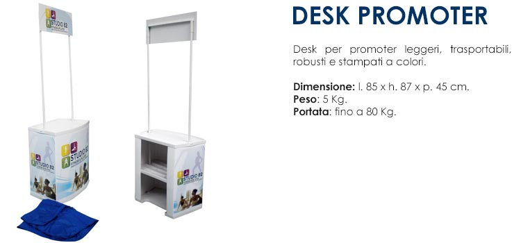 desk promoter con stampa digitale a colori