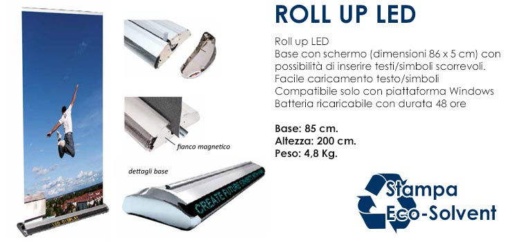 Roll up LED