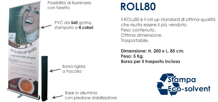 Roll up standard - 200x80 cm
