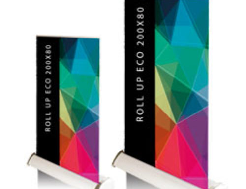 Mini roll up banner formato A4 e A3