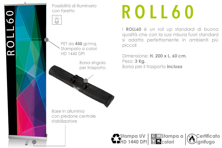 roll up standard 200x60 cm