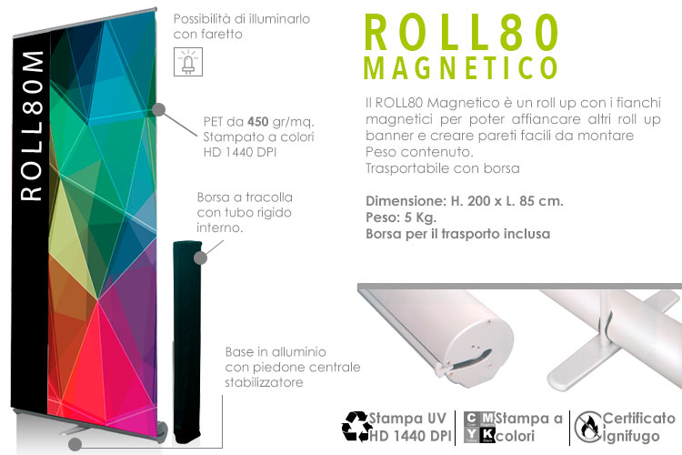 Roll up magnetico 200x85 cm