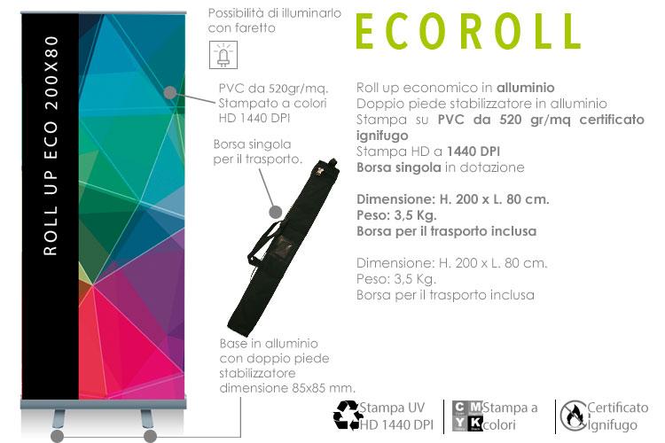 roll up economico 200x80 cm