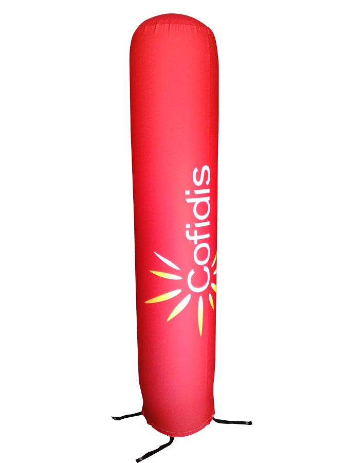 Totem gonfiabili - stampa in tessuto elasticizzato a colori