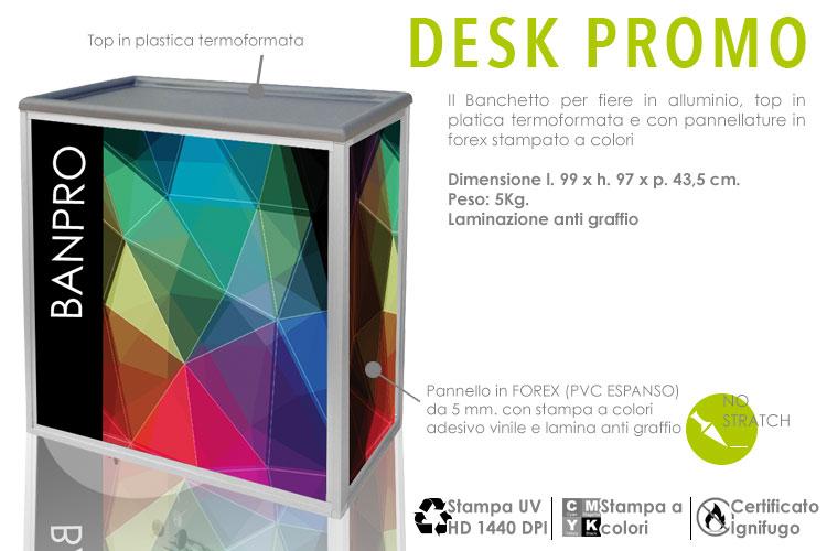 Bancpro - banchetto promozionale in alluminio e forex