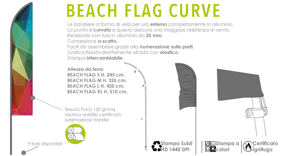Beach Flag in alluminio