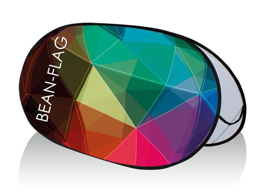 bean flag con stampa in tessuto elasticizzato a colori 270 gr/mq.