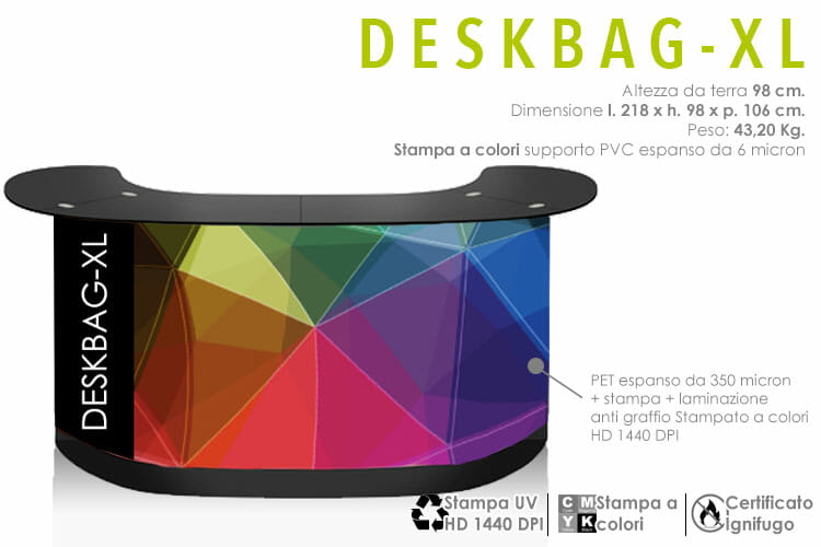 Banco reception fiera - deskbag XL