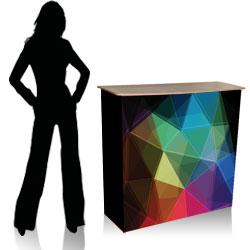 Deskvel - desk per fiere con stampa colori su tessuto