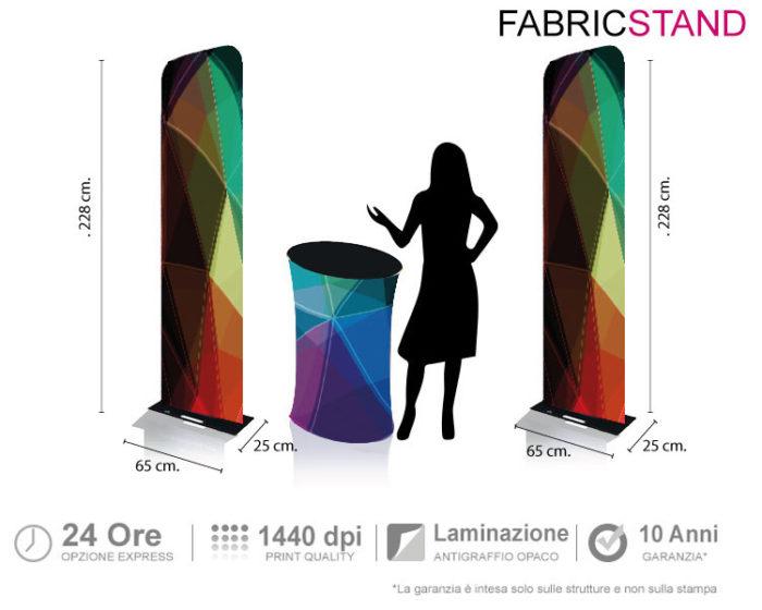 Fabric Stand - lo stand portatile composto da wide totem e wide desk