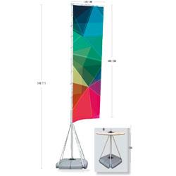 Pennone altezza 540 cm - FLAG50 - BOX