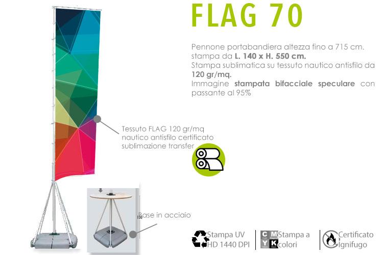 Pennone altezza 715 cm - FLAG70