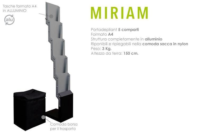 Portadepliant pieghevole - Miriam