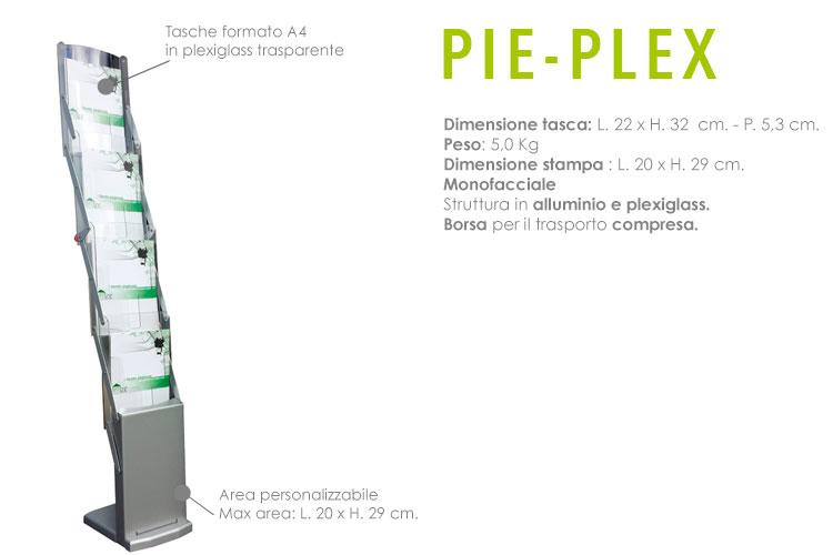 Portadepliant pieghevole - PIE-PLEX