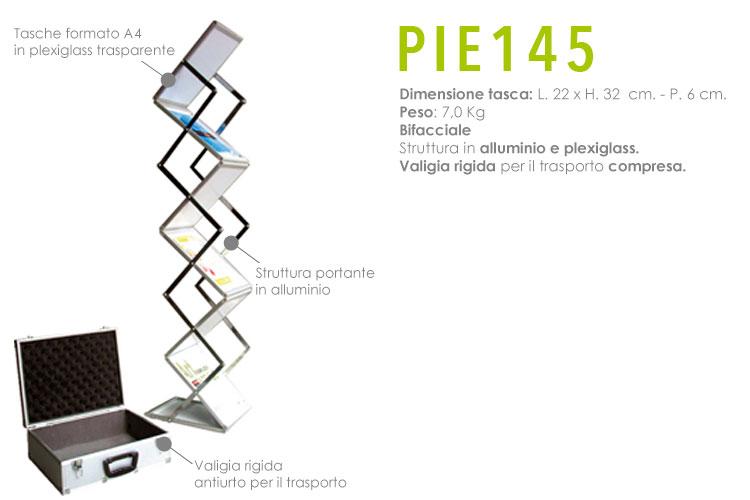 Portadepliant pieghevole - PIE145