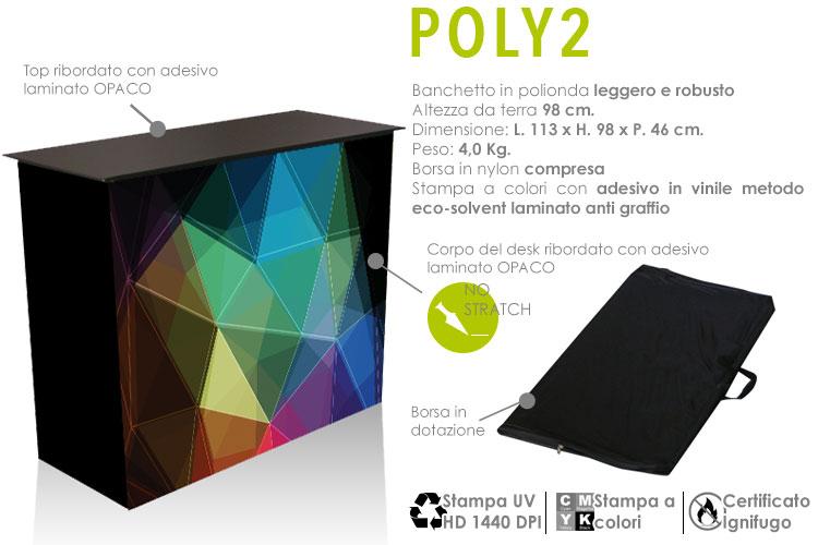 Desk large - polipropilene alveolare con stampa personalizzata a colori