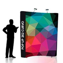 Stand ombrello 3x2 curvo - BOX