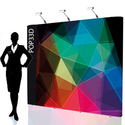 Pop up stand 3x3 dritto - BOX