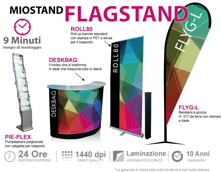 Stand trasportabili FLAGSTAND