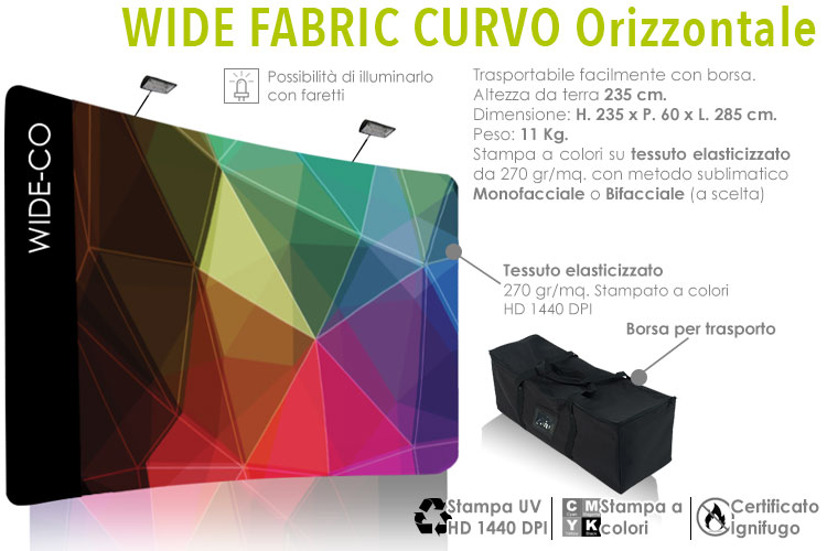 Wide fabric curvo orizzontale