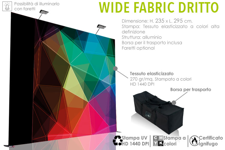 Wide fabric dritto orizzontale