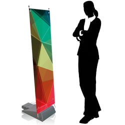 z banner display per esterno con base zavorrabile - BOX
