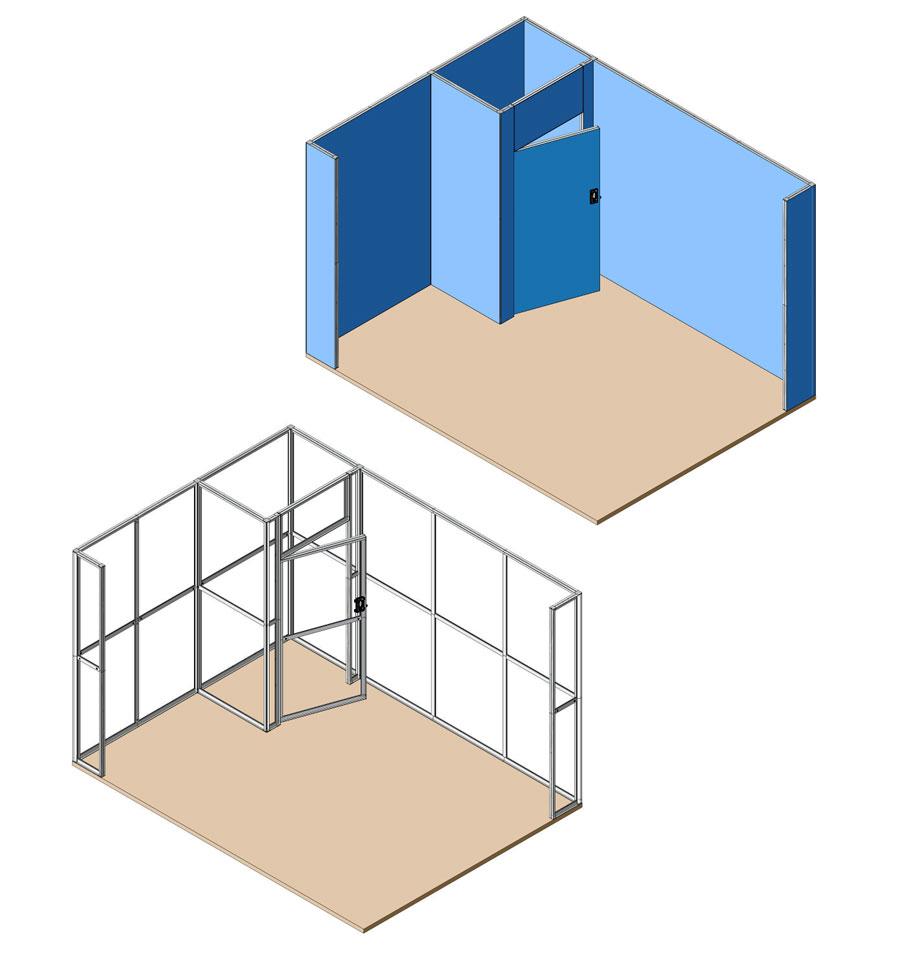 Miostand 3x4 - 2 lati aperti