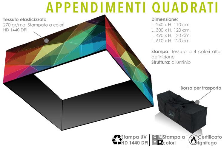 apprendimenti quadrati in alluminio con stampa in tessuto