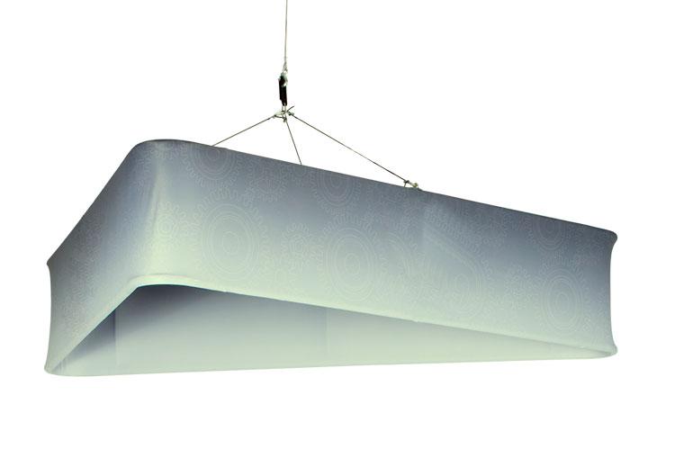 appendimento triangolare con stampa in tessuto elasticizzato