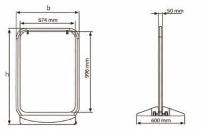 cavalletti outdoor con stampa diretta a colori UV su pannello rigido - misure tecniche