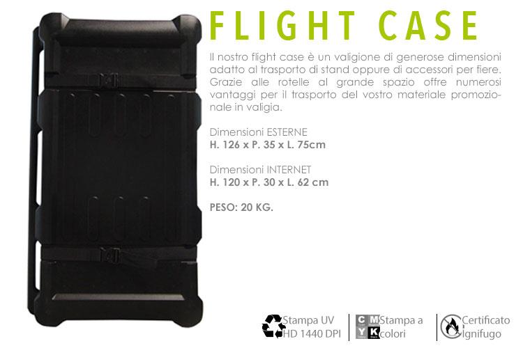 flight case nero porta espositori