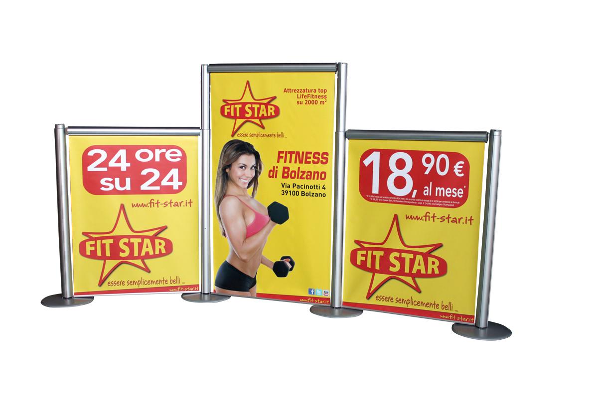 separe pubblicitari con stampa in TRIS