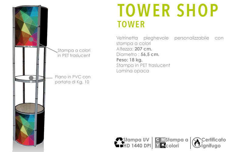 tower shop la vetrinetta pieghevole