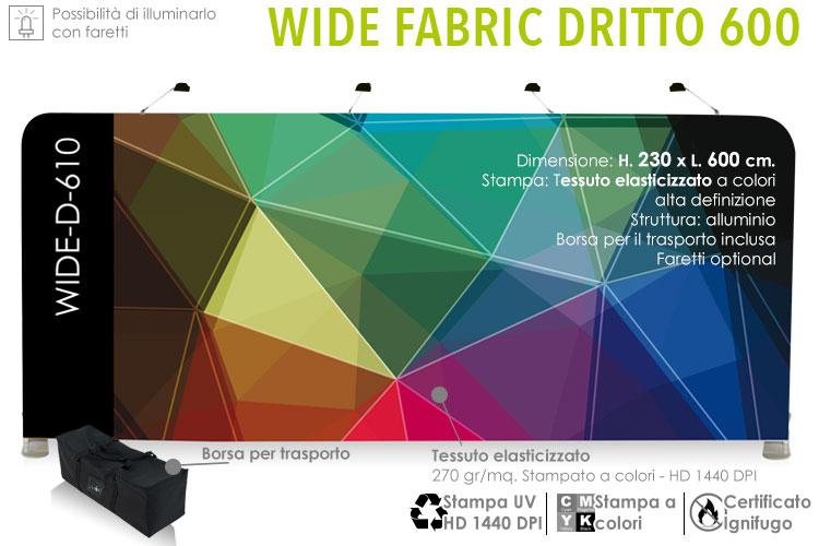 Wide 600x230 - Parete in alluminio con stampa in tessuto elasticizzato a colori