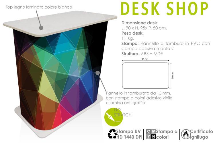 Desk shop - il desk robusto con stampa personalizzata a colori