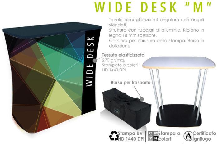 Wide desk M con stampa in tessuto elasticizzato