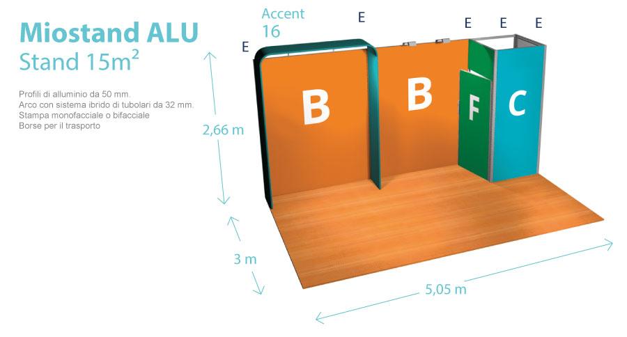 Stand 5x3 metri - Disegno tecnico