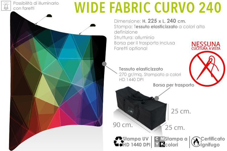 Fondale grafico con tessuto elasticizzato - Wide Fabric Curvo 240