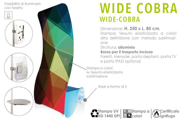 Wide Cobra - il totem con stampa in tessuto elasticizzato teso