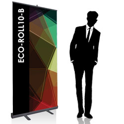 Roll up economico 200x100 cm - NERO - BOX