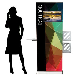 Roll up display - roll80d box