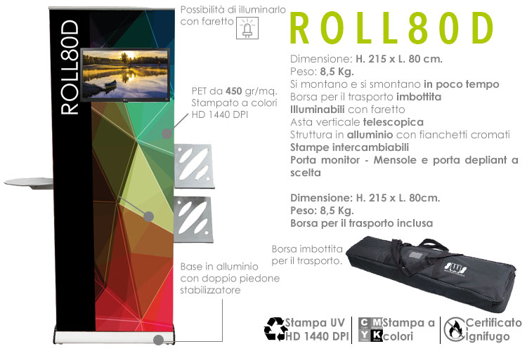 Roll up display - roll80d