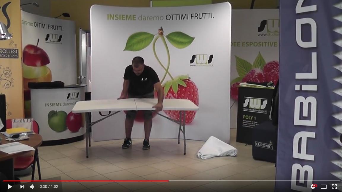 tavolo pieghevole a valigia stampato